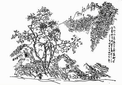 太行山画家村风景速写